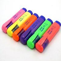 东洋SP25 TOYO荧光笔彩色笔荧光笔标记笔斜头10支盒装 东洋荧光笔  开学