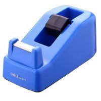 得力(deli)小号胶带座切割器封箱器(胶带宽度 ≤18mm) 蓝灰随机811 得力胶带座