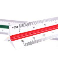 得力(deli) 8930 30cm三棱比例尺 高精度仪尺 多功能绘图制图测量工具 颜色随机