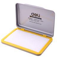 得力(deli)9894 空白印台 快干长方形橡皮章印泥 办公用品