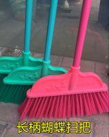 蝴蝶塑料扫把 塑料扫帚 不伤地 可拆卸 长柄耐用 家庭酒店用 长柄塑料扫把 长柄扫把