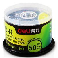 得力(deli)3724 dvd光盘dvd-r刻录光盘光碟空白光盘刻录盘 50片 4.7G DVD-R(雾银)(50片/筒)