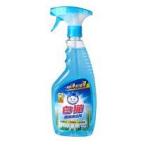 白猫玻璃清洗剂玻璃水500g瓶防雾车窗浴室玻璃清洁液不留痕迹