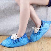 一次性鞋套加厚耐磨雨天防水家用样板房脚套男女防尘防滑塑料鞋套