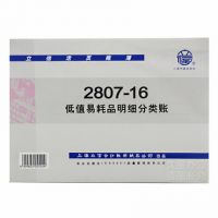 16K活页芯 立信帐本 低值易耗品明细分类帐 2807-16 立信账册