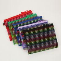 文件袋1054 多用便利尼绒丝拉链袋、彩色A5拉链袋