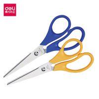 得力办公剪刀6004家用不锈钢剪刀 耐磨耐用剪纸刀 剪子