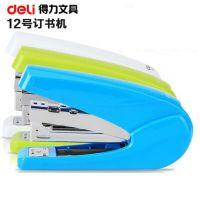 得力0429 省力订书机 12号针订书器 炫彩型订书机可订20张办公用品