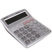 得力1512真人语音计算器财务办公用品计算机12位大按键水晶按钮