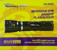 科虎350流明铝合金伸缩调光强光手电有效射程200米 KH-R202