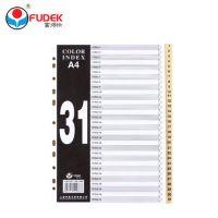 富得快31页 FD3100塑料分类纸分页纸分类卡 索引纸 隔页纸分类