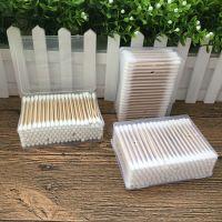棉签盒装两头用实木竹制棉签棉球清洁护理跌打损伤口擦拭卫生棉棒