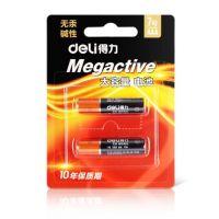 得力7号电池 2节  得力18504碱性电池2节装7号无汞环保遥控器玩具电池