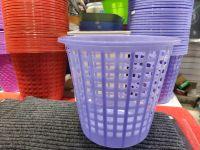 垃圾桶 创意时尚镂空垃圾桶塑料客厅厨房卫生间无盖网格纸篓筒
