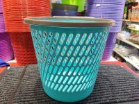 带圈垃圾桶 创意时尚镂空垃圾桶塑料客厅厨房卫生间无盖网格纸篓筒