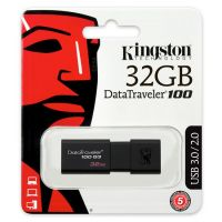 32GB  金士顿(Kingston)DT 100G3 32GB USB3.0 (黑色)U盘 高速车载U盘 黑色