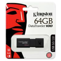 64g 金士顿(Kingston)DT 100G3 64GB USB3.0 (黑色)U盘 高速车载U盘 黑色