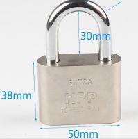 50mm 挂锁防盗大门家用锁具  防水挂锁防锈挂锁 通开锁头 小锁头迷你仿不锈钢挂锁 锁子