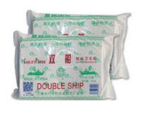 双船草纸 400克高级皱纹卫生纸 平板厕纸家用方块刀切纸10包装 平板纸