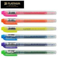 白金(PLATINUM) CSD-120 双头荧光笔 彩色标记笔 荧光记号笔  开学