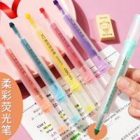 得力柔彩荧光笔  荧光笔 三角杆荧光笔 0475   开学