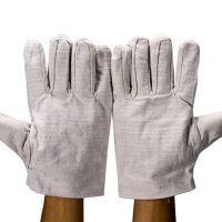 双层帆布手套  耐磨加厚全衬 工业机械工作电焊工防护用品