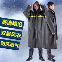 连体雨衣风衣式防暴雨雨衣长款男士劳保环卫成人加长户外全身防水