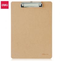 得力 A4目板夹 木板夹 书写板 A4 文件夹 a4文件夹板 平板夹 平板夹 板夹 9226棕
