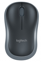 罗技(Logitech) M185(黑色蓝边)无线鼠标 办公家用鼠标笔记本台式机电脑光无线鼠标 灰边